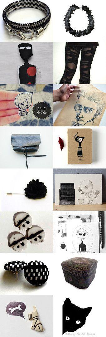 un momento noir - a noir time  by Nicoletta Giuliano on Etsy--Pinned with TreasuryPin.com