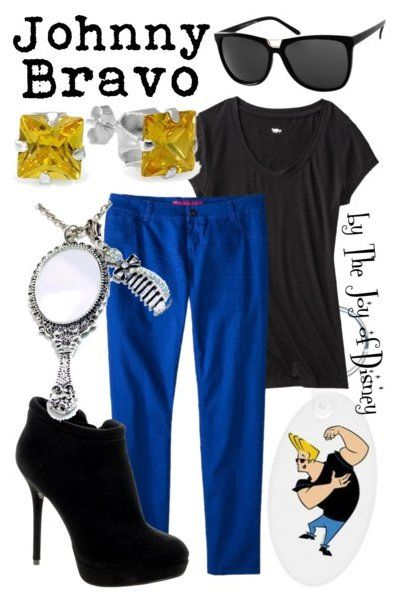 Outfit inspired by Johnny Bravo from Cartoon Network