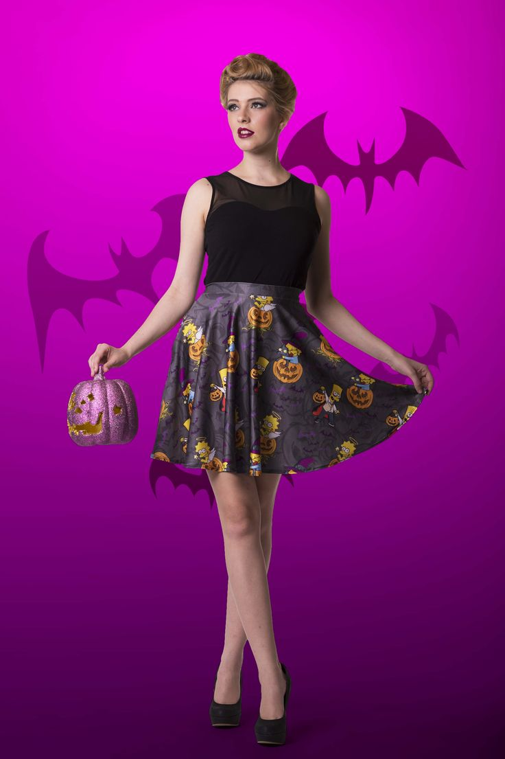 Nightmare on Evergreen Terrace Pocket Skater Skirt - $65.00 AUD LIMITED