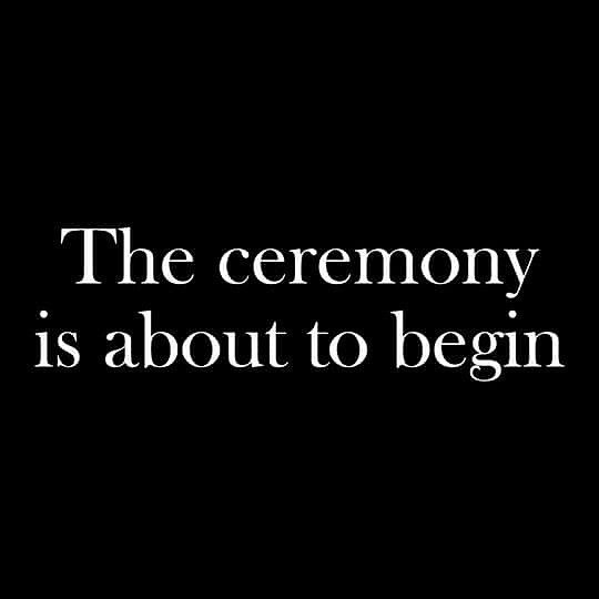 The ceremony is about to begin #thedoors