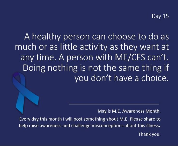 chicaguapa @chicaguapa 11h11 hours ago  Day 15 of #MEawarenessmonth Doing nothing is not as great as it's cracked up to be. Pls follow and RT for people with #ME #CFS. Thanks.