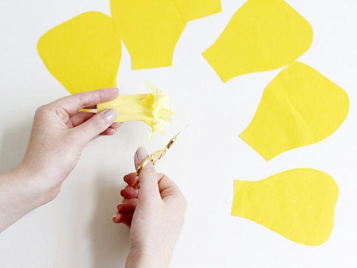 Tutoriel DIY: Créer un bouquet de fleurs en papier de soie via DaWanda.com