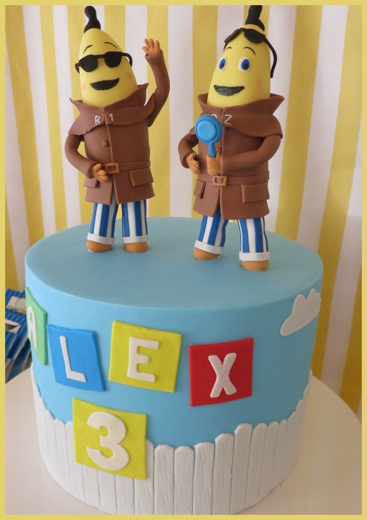 Bananas in Pyjamas - cake