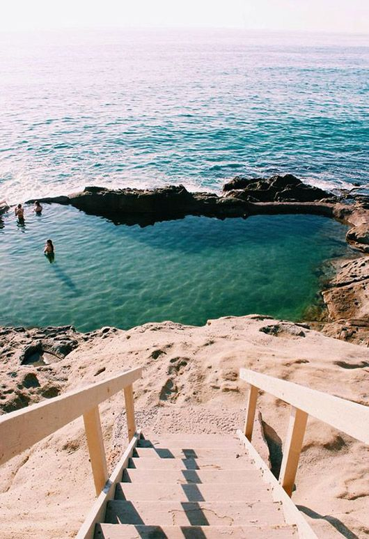 stairs leading down to beach in laguna beach california / sfgirlbybay