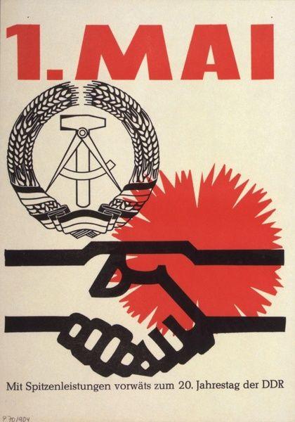 May Day (1960s); 1. Mai: Mit Spitzenleistungen voran zum 20. Jahrestag der DDR
