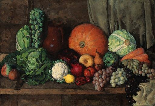 Ilya Mashkov - Still-life with Fruit and Vegetables on MutualArt.com