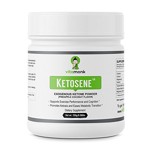 Ketosene� Powerful Exogenous Ketones Powder Supplement - Get Into Ketosis Quickly With Beta Hydroxybutyrate Ketone - Calcium Magnesium and...    VitaMonk