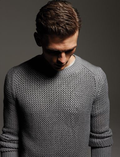 Sweater by Exemplaire. T-shirt by Gant Rugger.