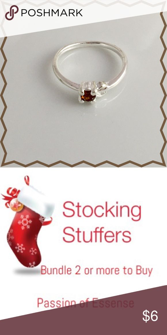 🎄Stocking Stuffers Girls Red Garnet Ring 🎄Stocking Stuffers Red Garnet CZ Rhinestones Crystal made with silver plated size 6 item #1.  Bundle 2 or more to buy and save on your shipping.  🔴No offers made on your bundle this is the lowest price.🔴 Accessories Jewelry