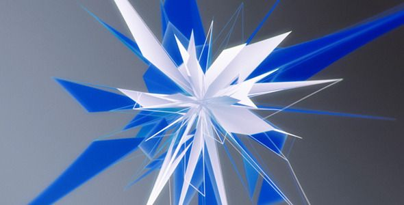Blue Star Made Of Triangles