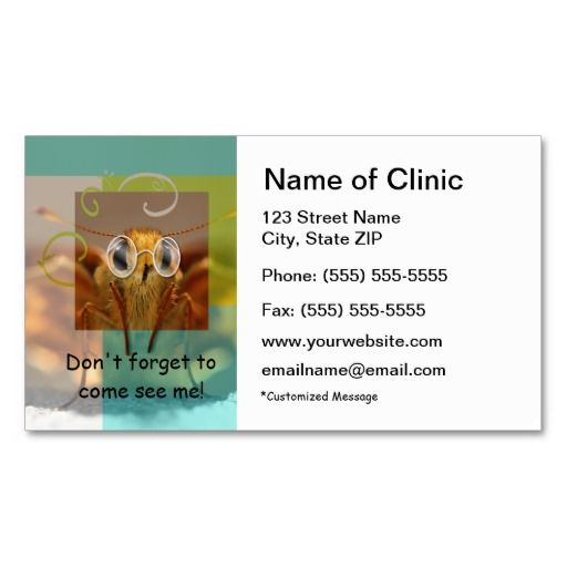 289 best images about Optometrist Business Cards – Reminder Card Template