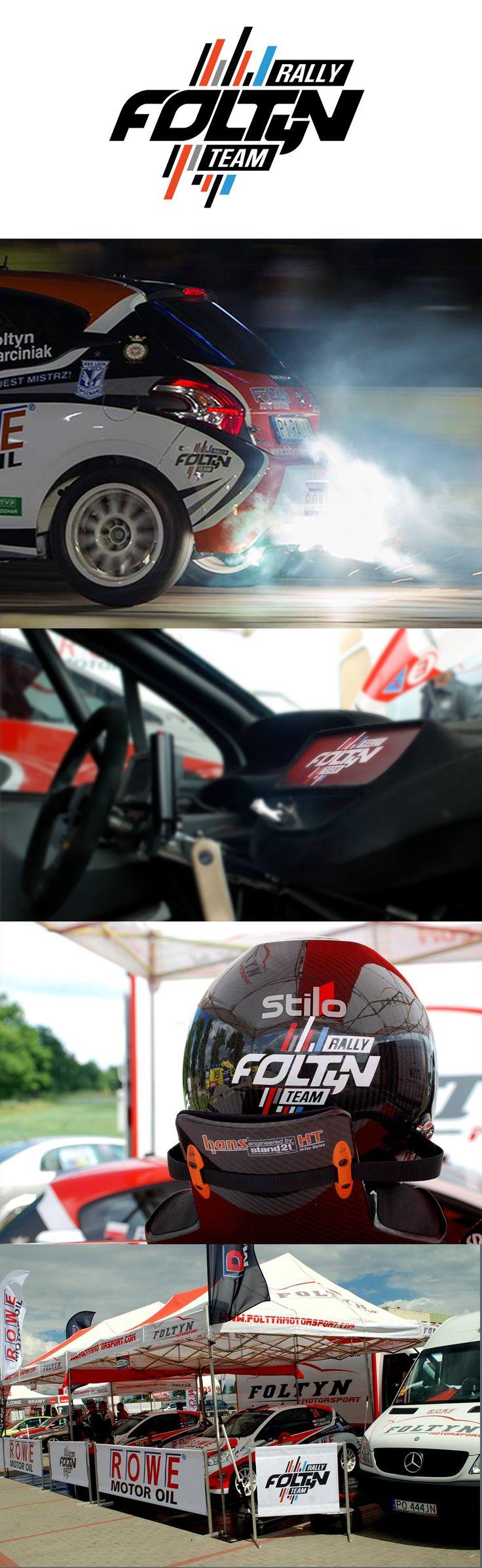 "2015, Logo for ""Foltyn Rally Team"", our original font, webgrafika.pl"
