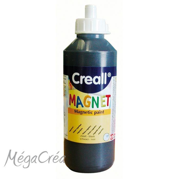 Peinture Aimantee Transparente #9: Peinture Aimantée Noire - 250 Ml - Peinture - MégaCréa