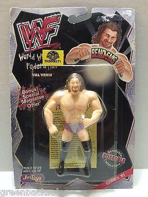 (TAS008171) - WWF WWE WCW nWo Wrestling JusToys Bend-Ems Figure - Val Venis