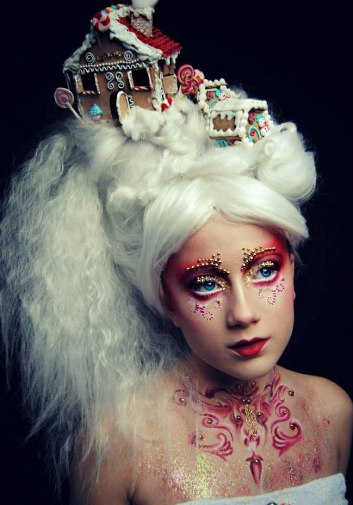 Halloween make-up ideas combined with wigs