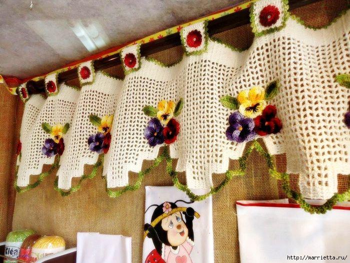 17 mejores imágenes sobre cortinas crochet cocinas y mas en ...