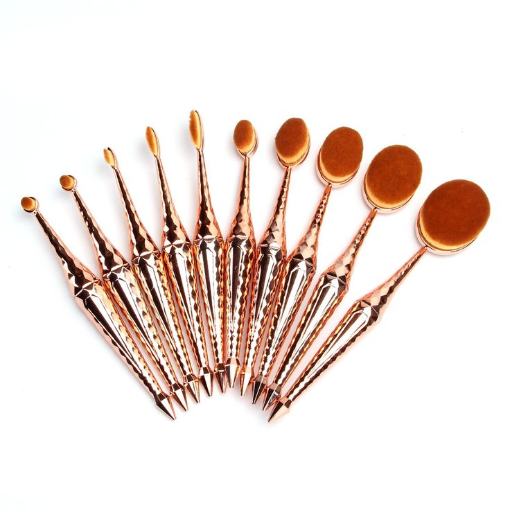 oval makeup brushes and their uses. vander 2017 new arrival 10 pcs mermaid oval multi-purpose makeup brush,rose gold brushes and their uses