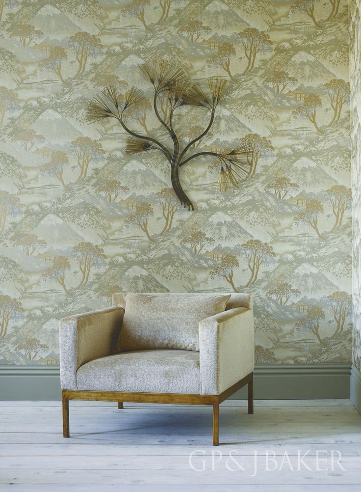 Wallpaper is 'Edo' from the Langdale Collection by GP & J Baker.