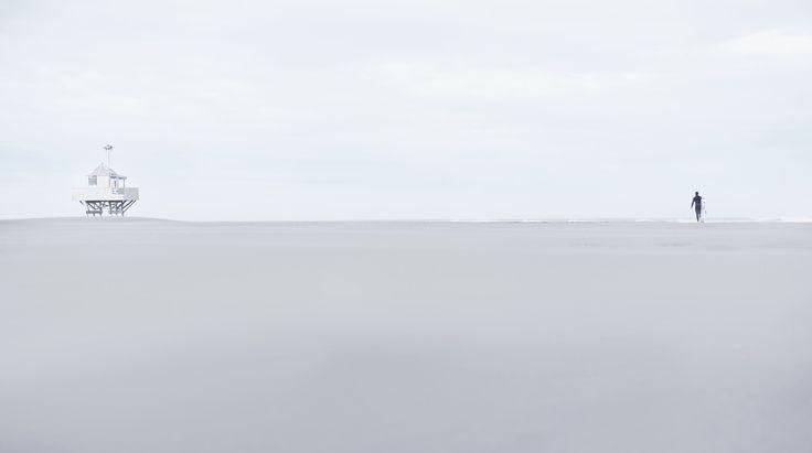 Surf tower, Surfer, Beach, NZ Art, West coast, Our Land, Dan Max