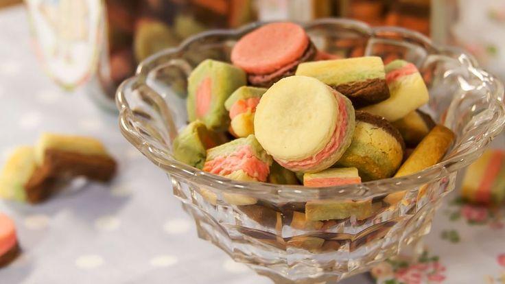 Receta   Mini galletas de colores - canalcocina.es