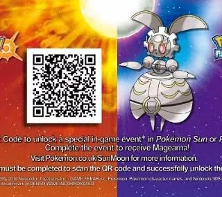 Scan QR code then Visit the deliveryman at the Antiquities of the Ages shop in Hau'oli City to get #Magearna #Pokemon