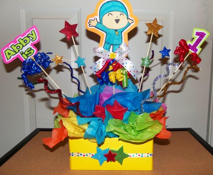 Pocoyo centerpiece! | mesas decoradas y cumpleaños | Pinterest