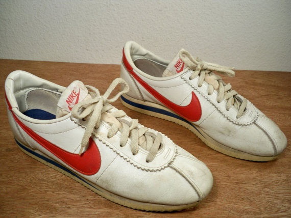 Vintage 1981 Nike Cortez Made In Usa White Leather