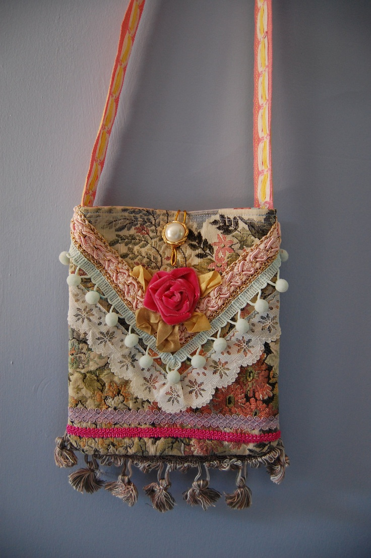 "Romantic and Feminine ""Mini-Gypsy"" cross body bag."