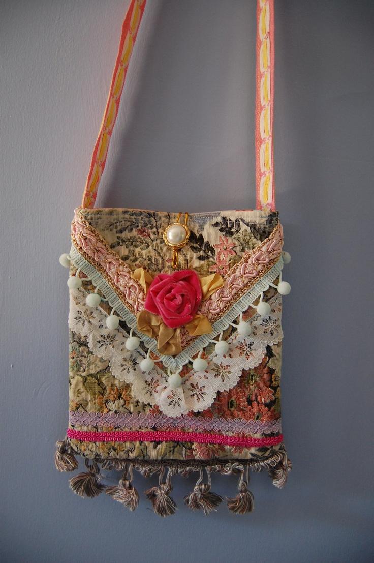 "Romantic and Feminine ""Mini-Gypsy"" cross body bag."