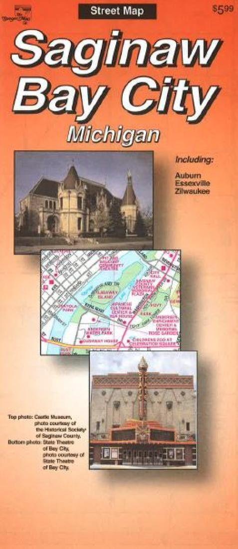 Saginaw Bay City, Michigan by The Seeger Map Company Inc.