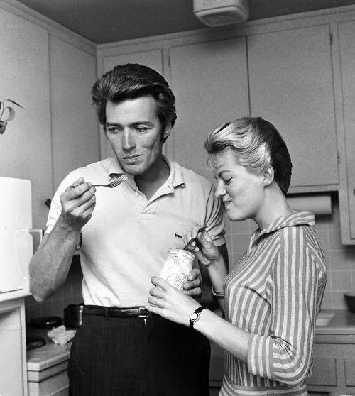 eastwood clint maggie wife tennis 1959 shirts johnson lacoste scott famous kitchen kit hollywood stars actor october martha stewart having