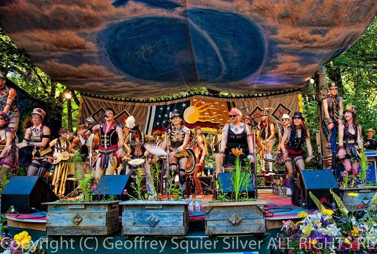 March Fourth Marching Band !!!! Oregon Country Fair!
