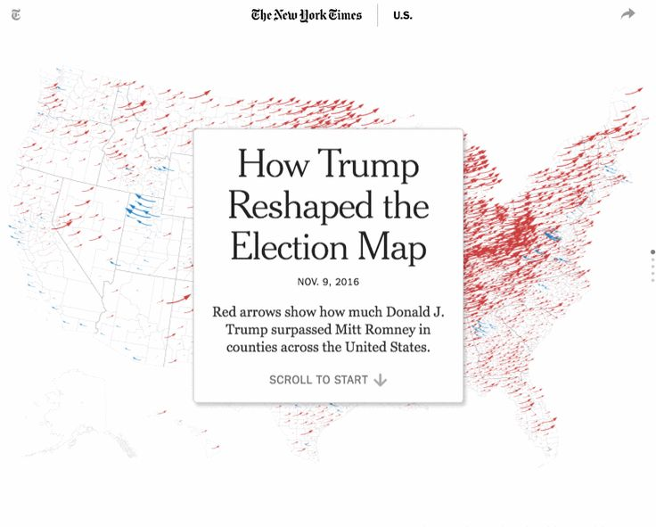 How Trump Reshaped The Election Map Http Www Nytimes Com