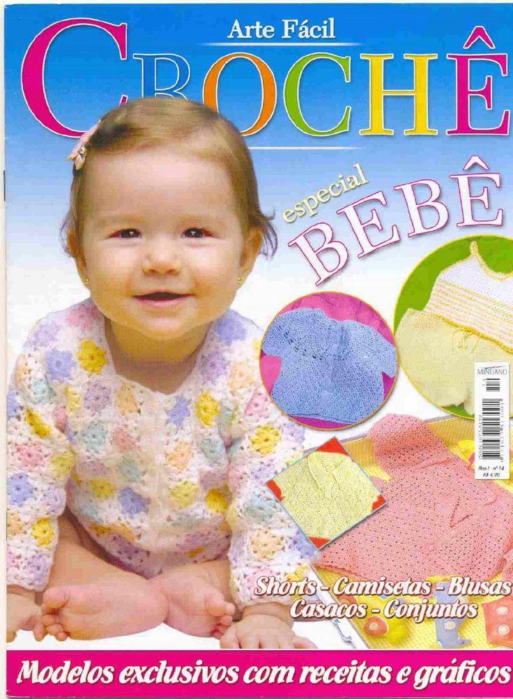 Arte fácil crochê n14 especial bebê arteseencantos blogspot com  arteseencantos.com.br