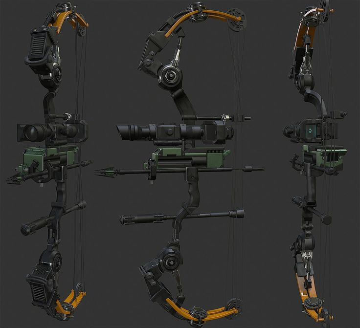 High tech/Sci fi Compound bow — polycount