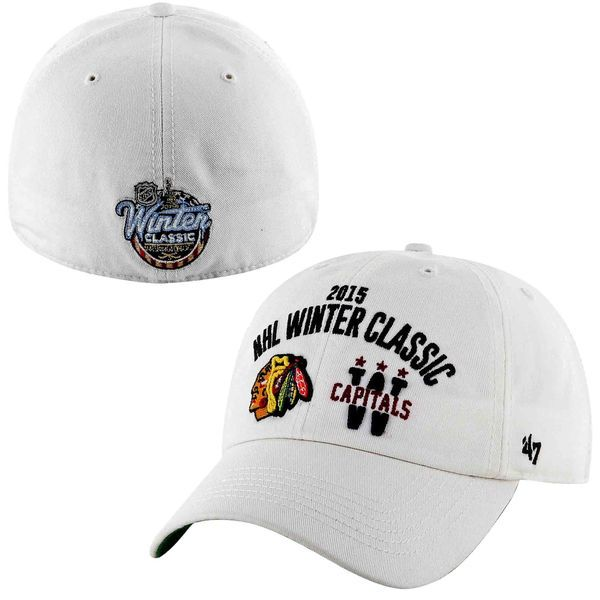 Men's '47 Brand White Chicago Blackhawks Vs. Washington Capitals 2015 NHL Winter Classic Dueling Hat - $22.99