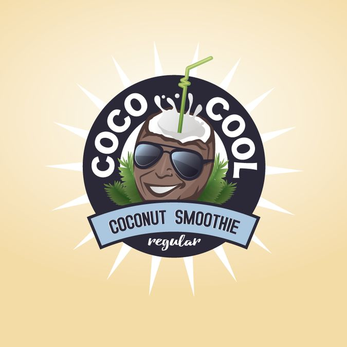Create an engaging logo and brand identity for an organic coconut smoothie company by Marlena.