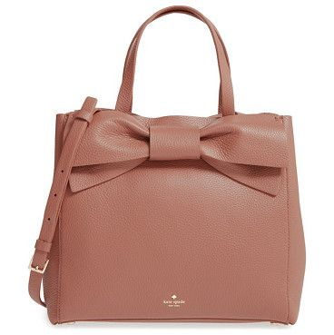Olive drive brigette leather satchel by Kate Spade New York. An oversized bow adds vintage cosmopolitan charm to a lightly structured satchel in buttery-soft pebbled leather.