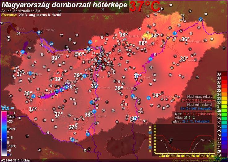 Archív térkép Weather - Hungary