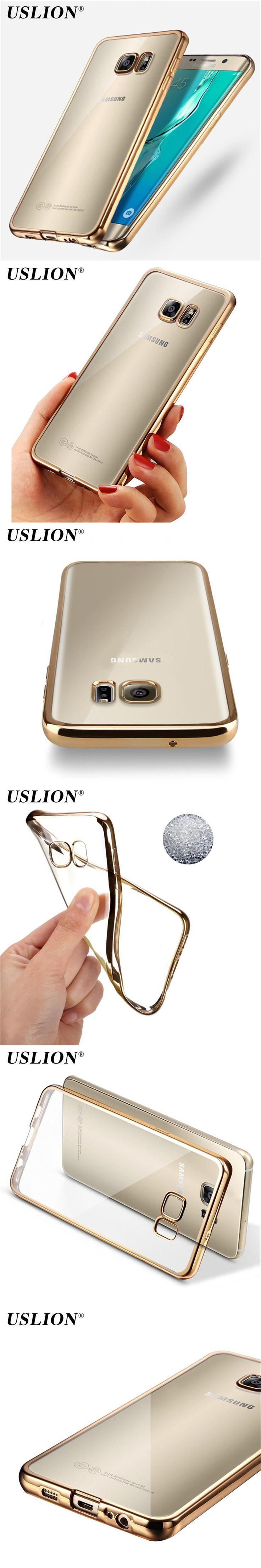 USLION Luxury Electroplated Phone Case For Samsung Galaxy S6 S6 Edge S7 S7 Edge S8 S8 Plus Note 3 4 5 J A Clear Soft TPU Case