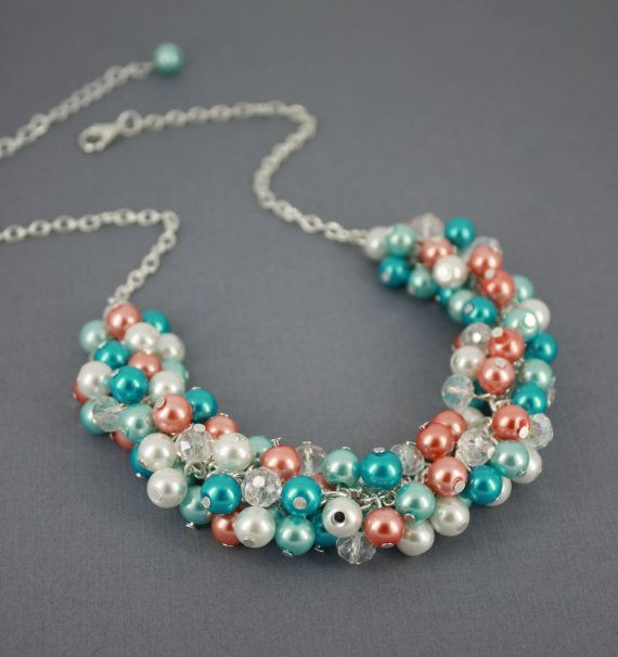 Hey, I found this really awesome Etsy listing at https://www.etsy.com/listing/177794196/pearl-cluster-necklace-bridesmaid
