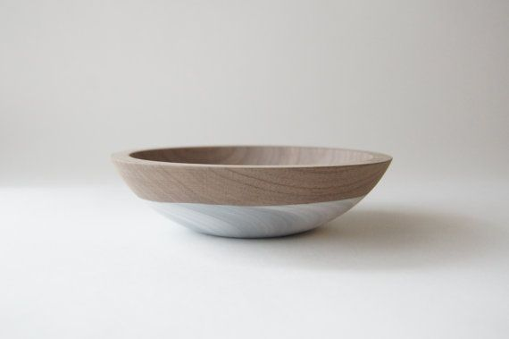 6 Snack Bowl Wooden Bowl Walnut Wood Grey by WindandWillowHome #etsy