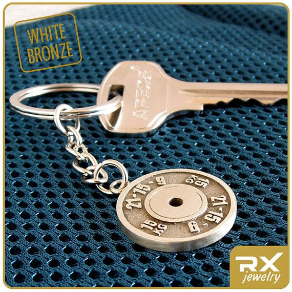 Gift for Сrossfitter Keychain ►►► SPECIFICATIONS ► ★ material: white bronze ★ diameter: 23mm (0,9 inch.) ★ made: 100% handmade  ► See more photos on our Facebook page: www.facebook.com/SportRXJewelry  ►►► PLEASE NOTE ► Before you make the purchase learn more about delivery terms Your order will be shipped within 1-3 days upon receipt of payment, more detailes: https://www.etsy.com/shop/RXJewelrySport/policy?ref=shopinfo_policies_leftnav  ►lovely and original gifts made of silver…