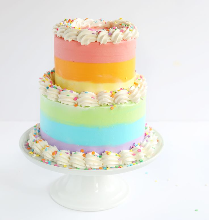 This cake was a horrible, happy accident. I love the final product, but getting there was no easy task! To make the above cake you will need: white cake recipe – I doubled the recipe (3 layers for the bottom of this cake, I saved and froze the 4th layer) with 8-inch round cake pans,...
