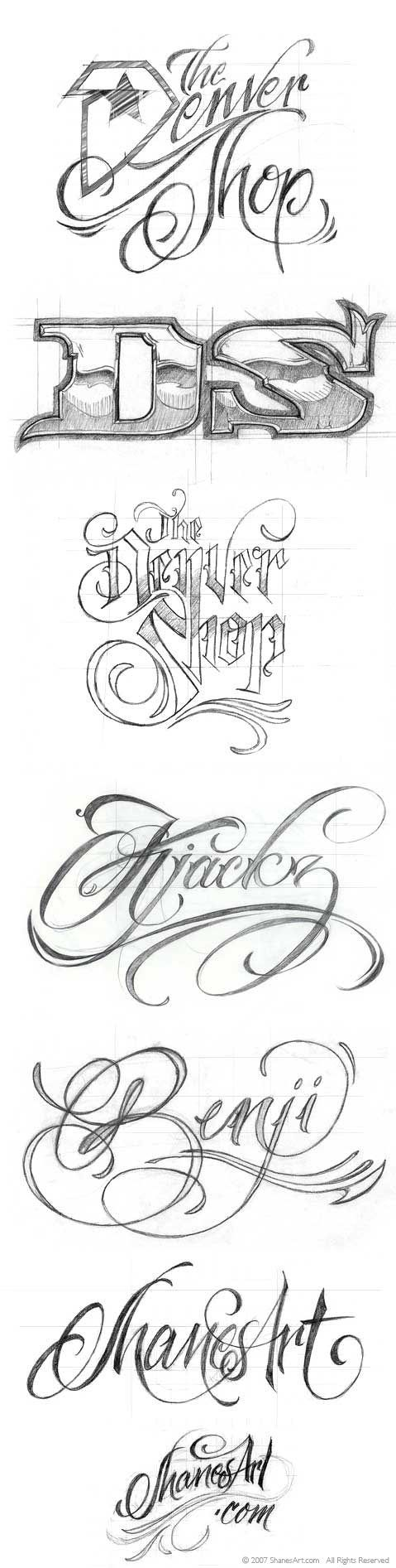 Tattoo Lettering | tattoo lettering fonts.type treatments shanesart blog clvl7hks Type ...