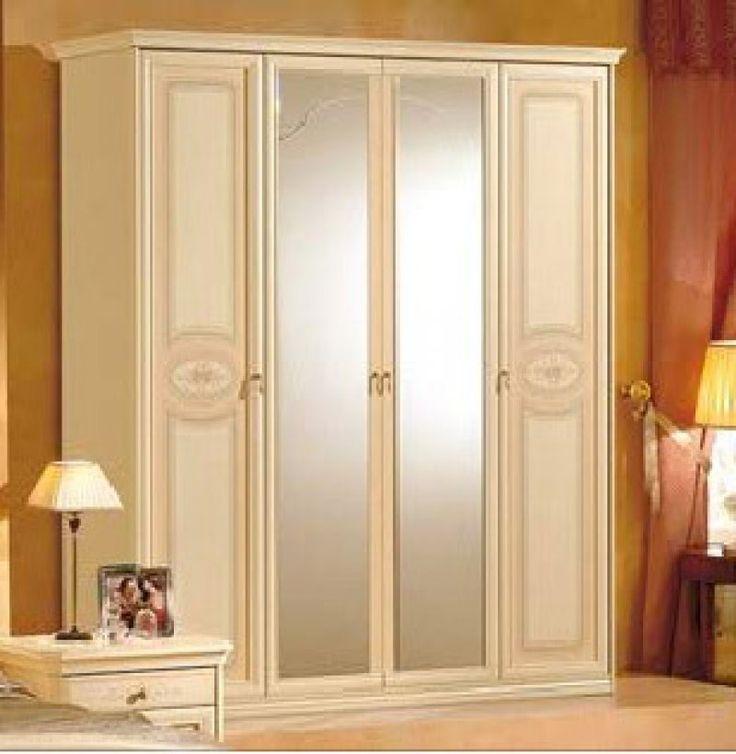 Jolly ruhásszekrény 4 ajtós, tükrös