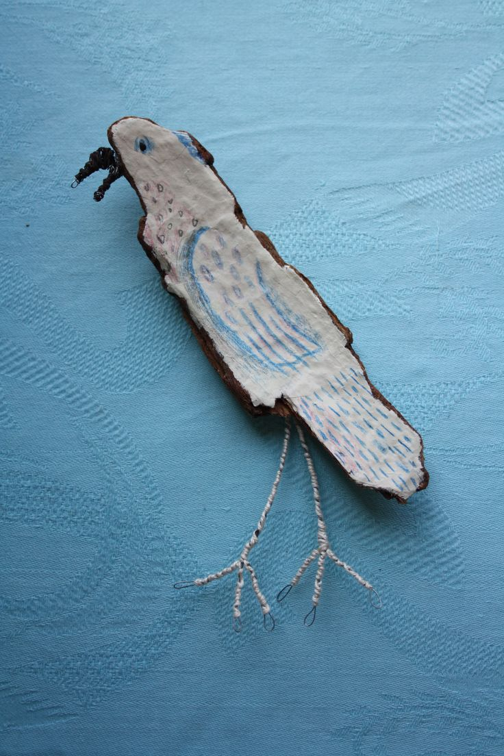 Mysta's Mirror: Cockatoo on found Spanish driftwood with mixed media. www.mystasmirror.com