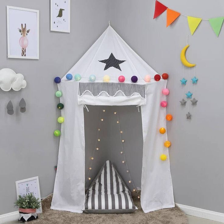Teepee , kids playroom, wall canopy , kids room , nursery decor , play tent, corner canopy , reading nook, playing area, kids canopy, by InOneBox on Etsy https://www.etsy.com/listing/552379380/teepee-kids-playroom-wall-canopy-kids
