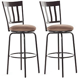 @Overstock - The Presidio swivel bar stools feature a black finish with a coffee-color microfiber cushion. These simple yet elegant stools will meet your seating needs for many years.http://www.overstock.com/Home-Garden/Presidio-30-inch-Swivel-Bar-Stools-Set-of-2/4871362/product.html?CID=214117 $176.39: Kutchen Ideas, Swivel Bar Stools, Presidio Swivel, Black Finish, Elegant Stools, Microfiber Cushions, Coffee Colors Microfiber, Furniture Ideas, Elegant Bar Stools