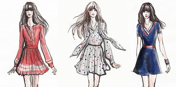 Zooey Deschanel Designs Dress Collection for Tommy Hilfiger